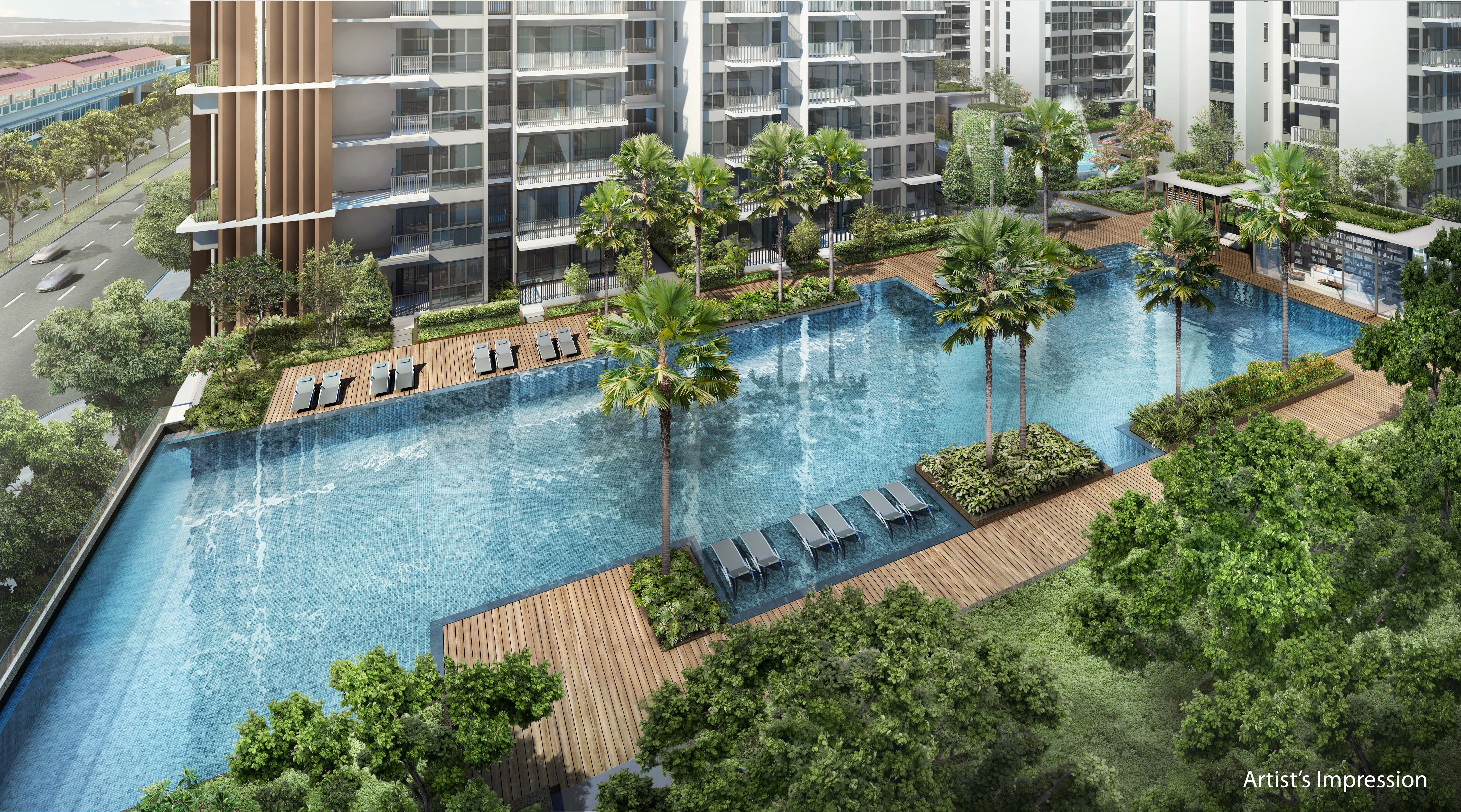 North Park Residences Swimming Pool Aerial View