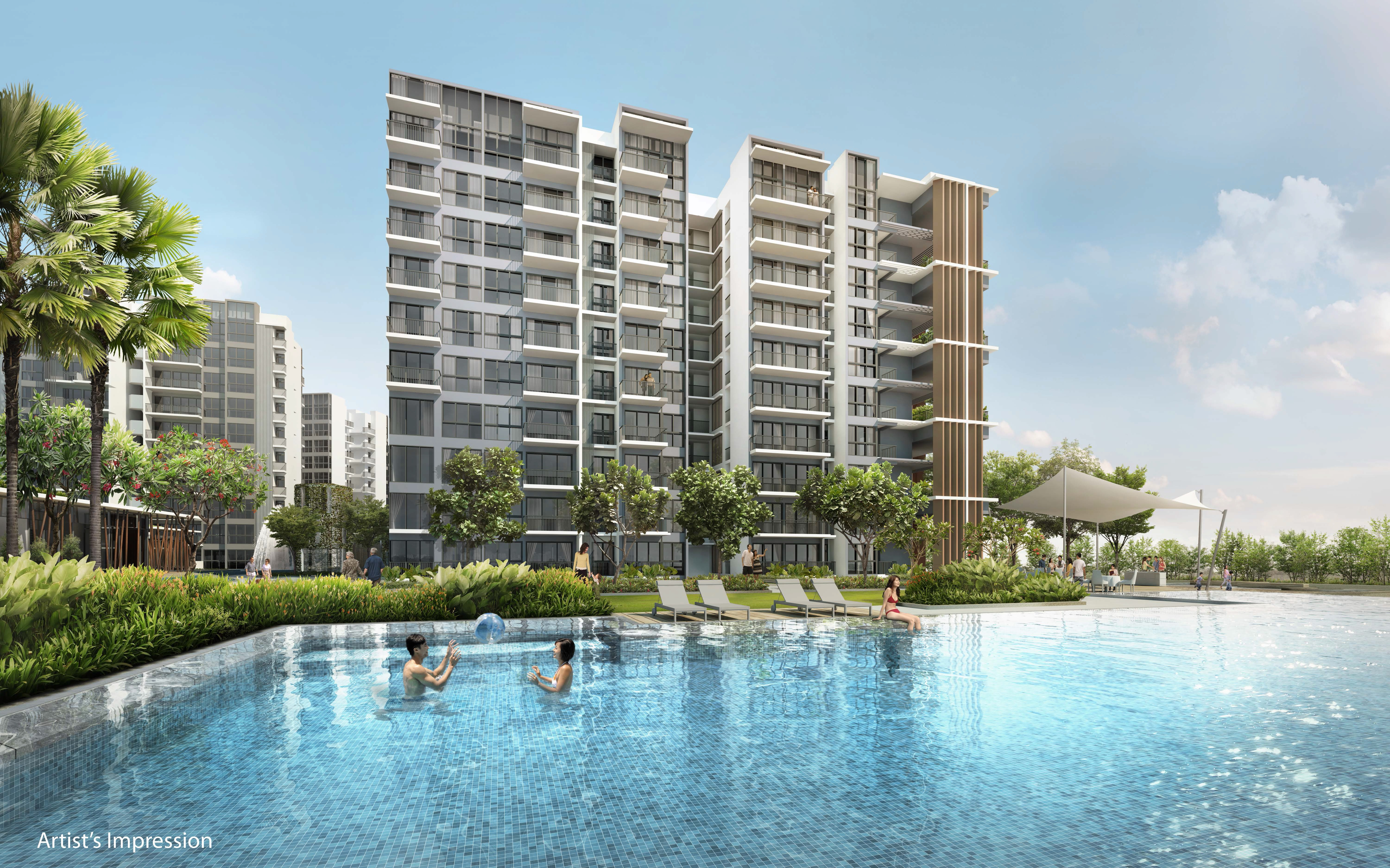 North Park Residences Building Facade with Swimming Pool