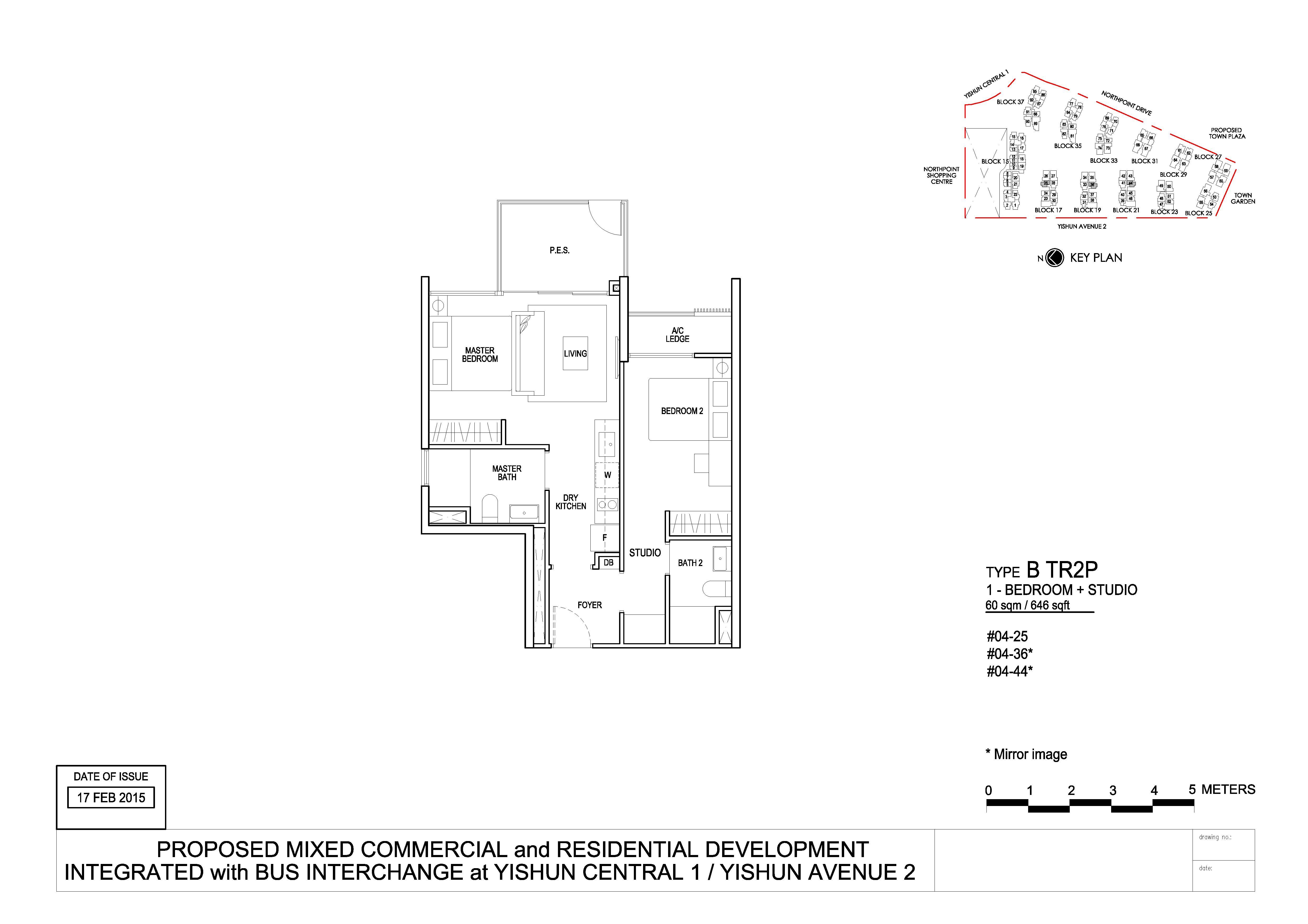 North Park Residences 2 Bedroom Trio Type BTR2P Floor Plans